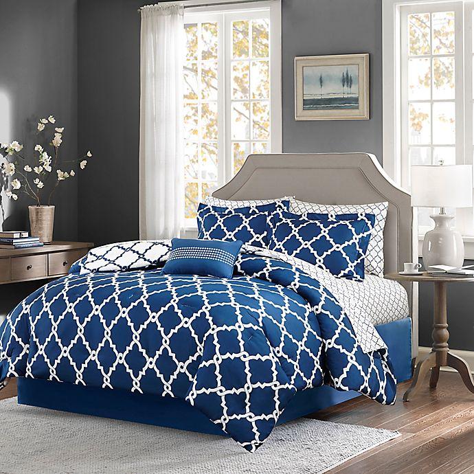 Alternate image 1 for Madison Park Essentials Merritt 9-Piece Reversible Comforter Set