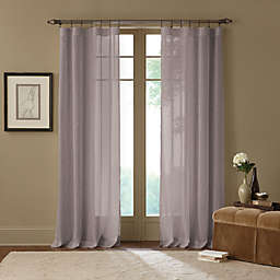 Cambria® Terra 108-Inch Rod Pocket Sheer Window Curtain Panel in Grey