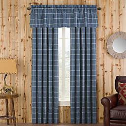 Branklyn Plaid Window Curtain Panel and Valance