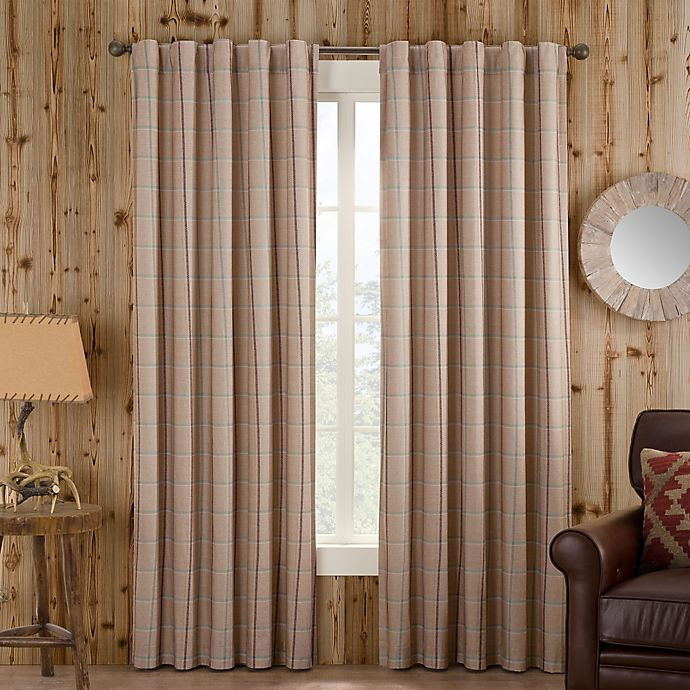 Alternate image 1 for Branklyn Plaid 120-Inch Rod Pocket/Back Tab Window Curtain Panel in Natural