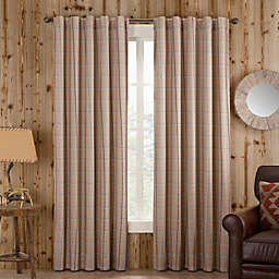 Branklyn Plaid 120-Inch Rod Pocket/Back Tab Window Curtain Panel in Natural