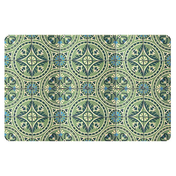 Alternate image 1 for The Softer Side by Weather Guard™ 18-Inch x 27-Inch Casa Green Kitchen Mat