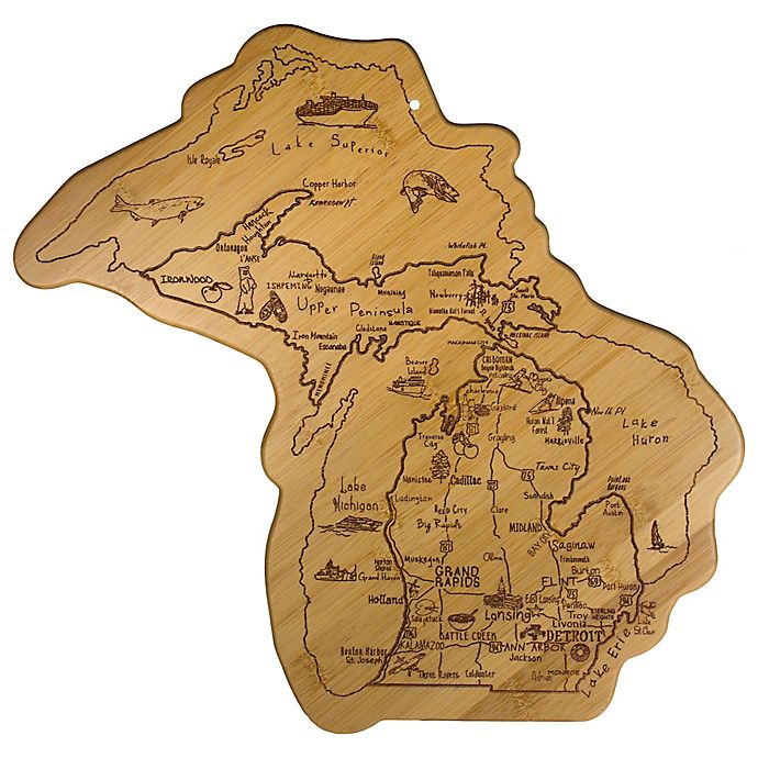 Alternate image 1 for Totally Bamboo® MEGA Michigan Destination Cutting/Serving Board