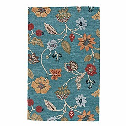 Jaipur Blue Collection Floral Rug in Blue Multi