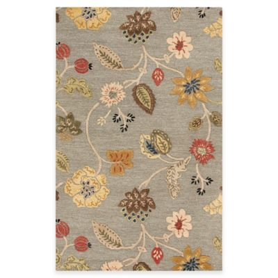 Jaipur Blue Collection Floral Rug In Blue Red Bed Bath