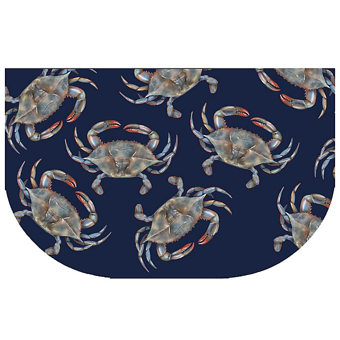 Alternate image 1 for The Softer Side by Weather Guard™ 24-Inch x 40-Inch Blue Crabs Kitchen Mat