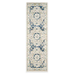 Safavieh Evoke Collection Mirza 2-Foot 2-Inch x 7-Foot Runner in Ivory/Blue