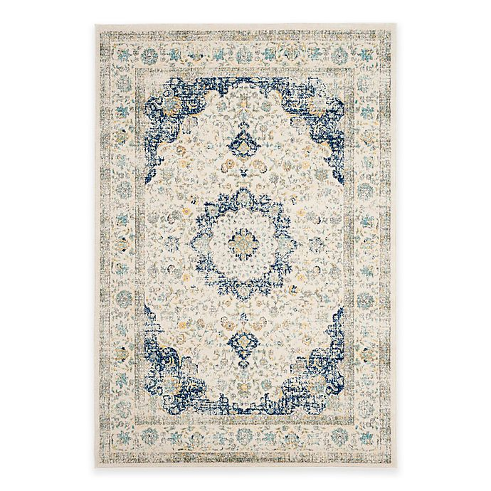 Alternate image 1 for Safavieh Evoke Collection Mirza 6-Foot 7-Inch x 9-Foot Area Rug in Ivory/Blue