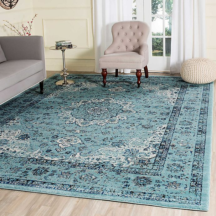 Alternate image 1 for Safavieh Evoke Collection Mirza 6-Foot 7-Inch x 9-Foot Area Rug in Light Blue