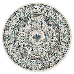 Safavieh Evoke Collection Mirza 6-Foot 7-Inch Round Area Rug in Grey/Ivory