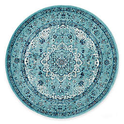 Safavieh Evoke Collection Mirza 6-Foot 7-Inch Round Area Rug in Light Blue