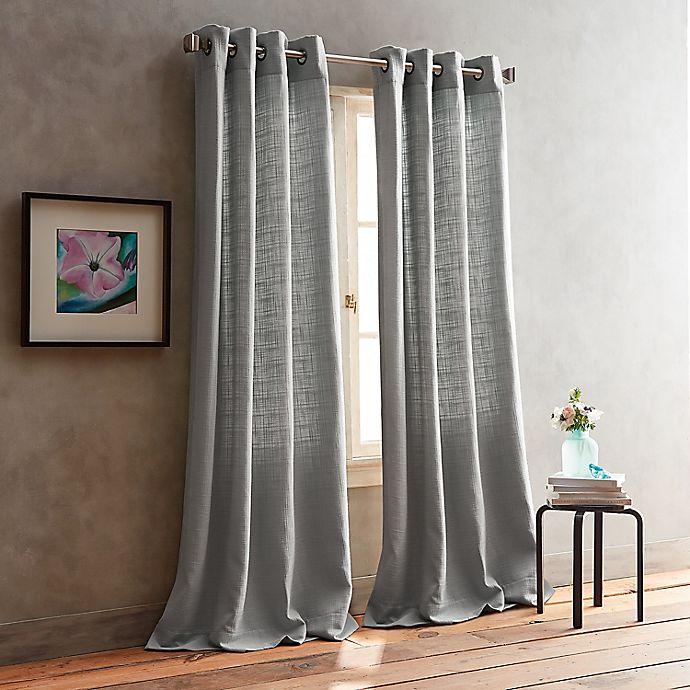 Alternate image 1 for DKNY Boucle Plaid 2-Pack Grommet Room Darkening Window Curtain Panel