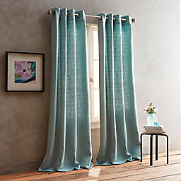DKNY Boucle Plaid 2-Pack Grommet Room Darkening Window Curtain Panel