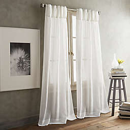 DKNY Paradox Pencil Pleat 2-Pack Rod Pocket/Back Tab Sheer Window Curtain Panels