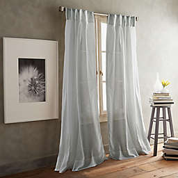DKNY Paradox 2-Pack 84-Inch Inverted Pleat Sheer Window Curtain Panels in Silver