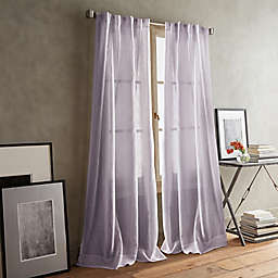 DKNY Paradox 2-Pack 84-Inch Rod Pocket/Back Tab Sheer Window Curtain Panels in Lilac