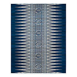 Safavieh Evoke Collection Tribal 9-Foot x 12-Foot Area Rug in Royal/Ivory