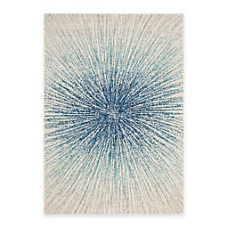 Safavieh Evoke Collection Burst 5-Foot 1-Inch x 7-Foot 6-Inch Area Rug in Royal/Ivory