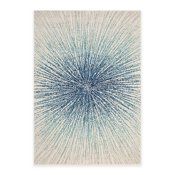 Alternate image 1 for Safavieh Evoke Collection Burst 6-Foot 7-Inch x 9-Foot Area Rug in Royal/Ivory