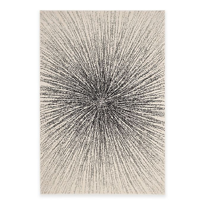 Alternate image 1 for Safavieh Evoke Collection Burst 8-Foot x 10-Foot Area Rug in Black/Ivory