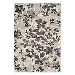 Safavieh Evoke Collection Flora 5-Foot 1-Inch x 7-Foot 6-Inch Area Rug in Grey/Black