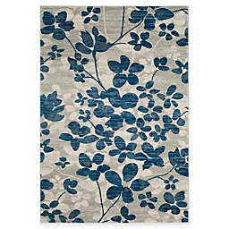 Safavieh Evoke Collection Flora 6-Foot 7-Inch x 9-Foot Area Rug in Grey/Light Blue