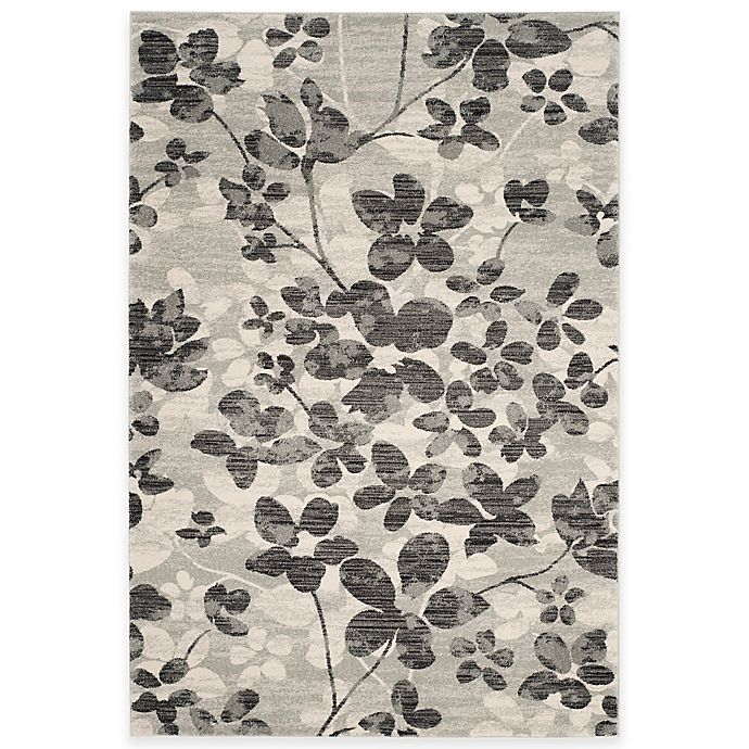 Alternate image 1 for Safavieh Evoke Collection Flora 9-Foot x 12-Foot Area Rug in Grey/Black