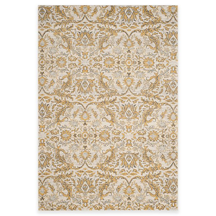 Alternate image 1 for Safavieh Evoke Collection Grove 8-Foot x 10-Foot Area Rug in Ivory/Gold