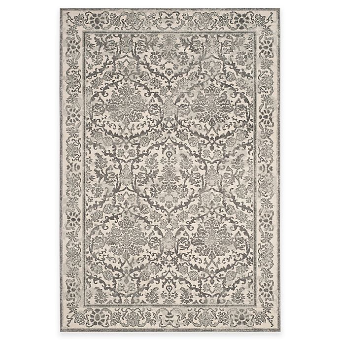 Alternate image 1 for Safavieh Evoke Collection Jade 5-Foot 1-Inch x 7-Foot 6-Inch Area Rug in Ivory/Grey