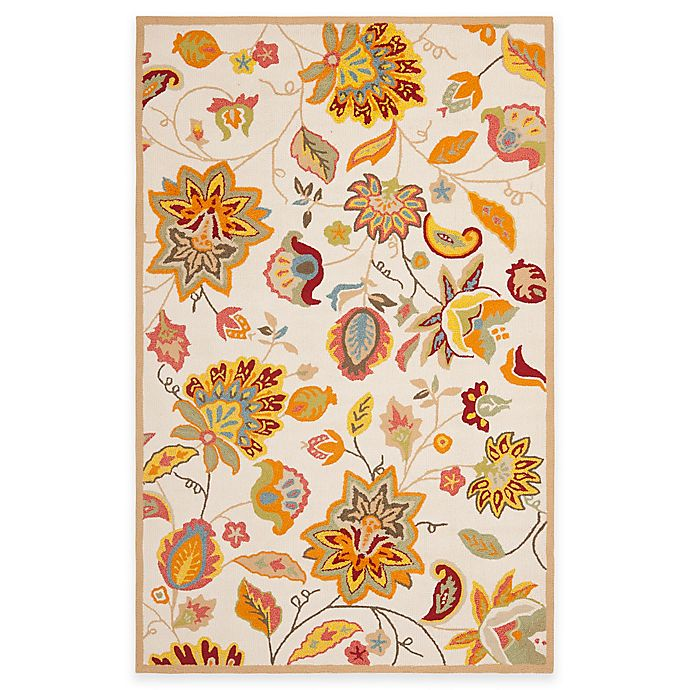 Alternate image 1 for Safavieh Four Seasons Paisley Floral Rug in Ivory/Yellow