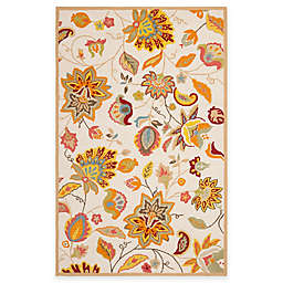 Safavieh Four Seasons Paisley Floral 5-Foot x 8-Foot Area Rug in Ivory/Yellow
