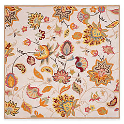 Safavieh Four Seasons Paisley Floral 6-Foot Square Area Rug in Ivory/Yellow