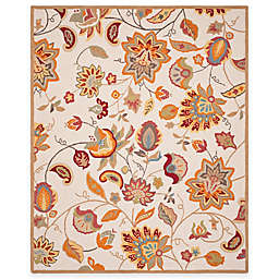 Safavieh Four Seasons Paisley Floral 8-Foot x 10-Foot Area Rug in Ivory/Yellow