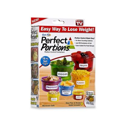 Get Fit Perfect Portions 14 Piece Portion Control Food Container