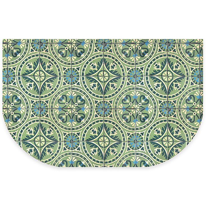 Alternate image 1 for The Softer Side by Weather Guard™ 24-Inch x 40-Inch Casa Green Kitchen Mat