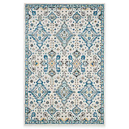 Safavieh Evoke Collection Diamonds 5-Foot 1-Inch x 7-Foot 6-Inch Area Rug in Ivory/Light Blue