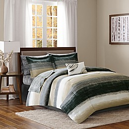 Madison Park Essentials Saben Comforter Set in Taupe/Black