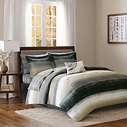 Madison Park Essentials Saben Comforter Set in Taupe/Black