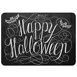 The Softer Side by Weather Guard™ Happy Halloween Kitchen Mat in Black/White