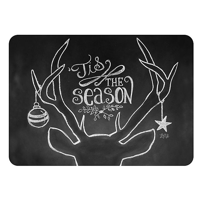 Alternate image 1 for The Softer Side by Weather Guard™ 18-Inch x 27-Inch Tis the Season Deer Kitchen Mat