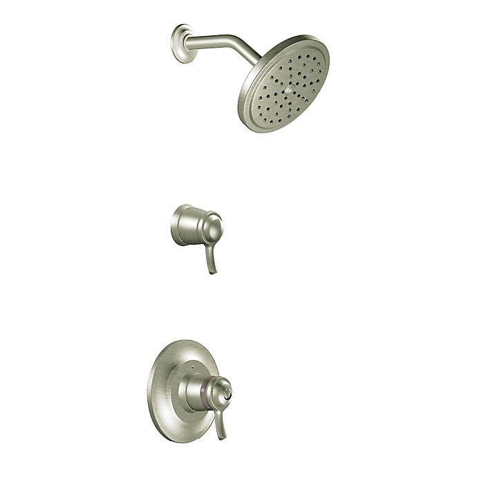 Moen Fina Exacttemp 2 Handle Wall Mount Shower Faucet In Brushed Nickel