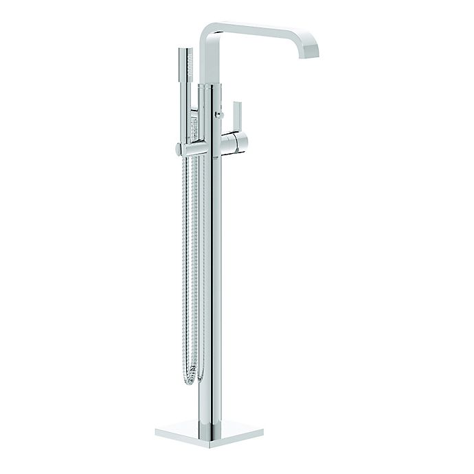 Grohe Allure Floor Standing Tub Faucet With Shower Wand In Starlight