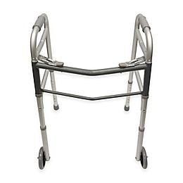 Bios Living Folding Walker with Wheels in Silver