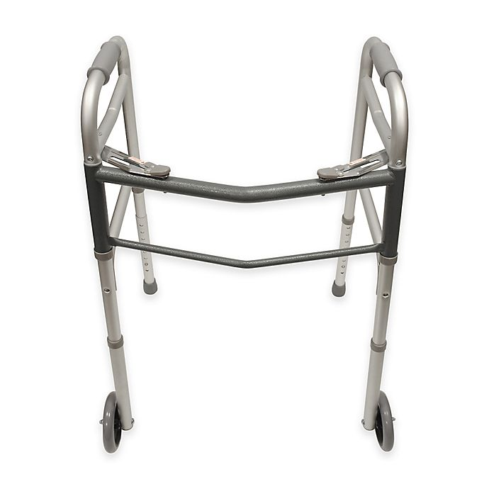 Alternate image 1 for Bios Living Folding Walker with Wheels in Silver