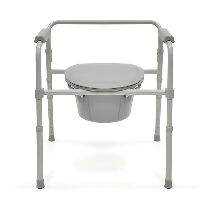 Alternate image 1 for Bios Living Deluxe Commode in Grey/Silver