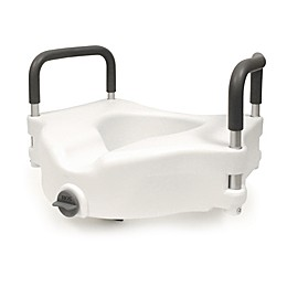Bios Living Clamp-On Raised Toilet Seat in White/Grey