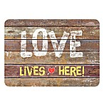 The Softer Side by Weather Guard™ 23-Inch x 26-Inch Rustic Love Sign Kitchen Mat