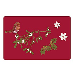The Softer Side by Weather Guard™ Mistletoebird Kitchen Mat