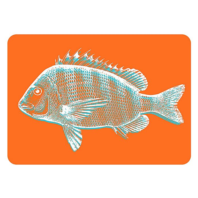 Alternate image 1 for The Softer Side by Weather Guard® 18-Inch x 27-Inch Fish Kitchen Mat in Orange