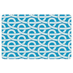 The Softer Side by Weather Guard™ Nautical Knots Kitchen Mat in Blue/White